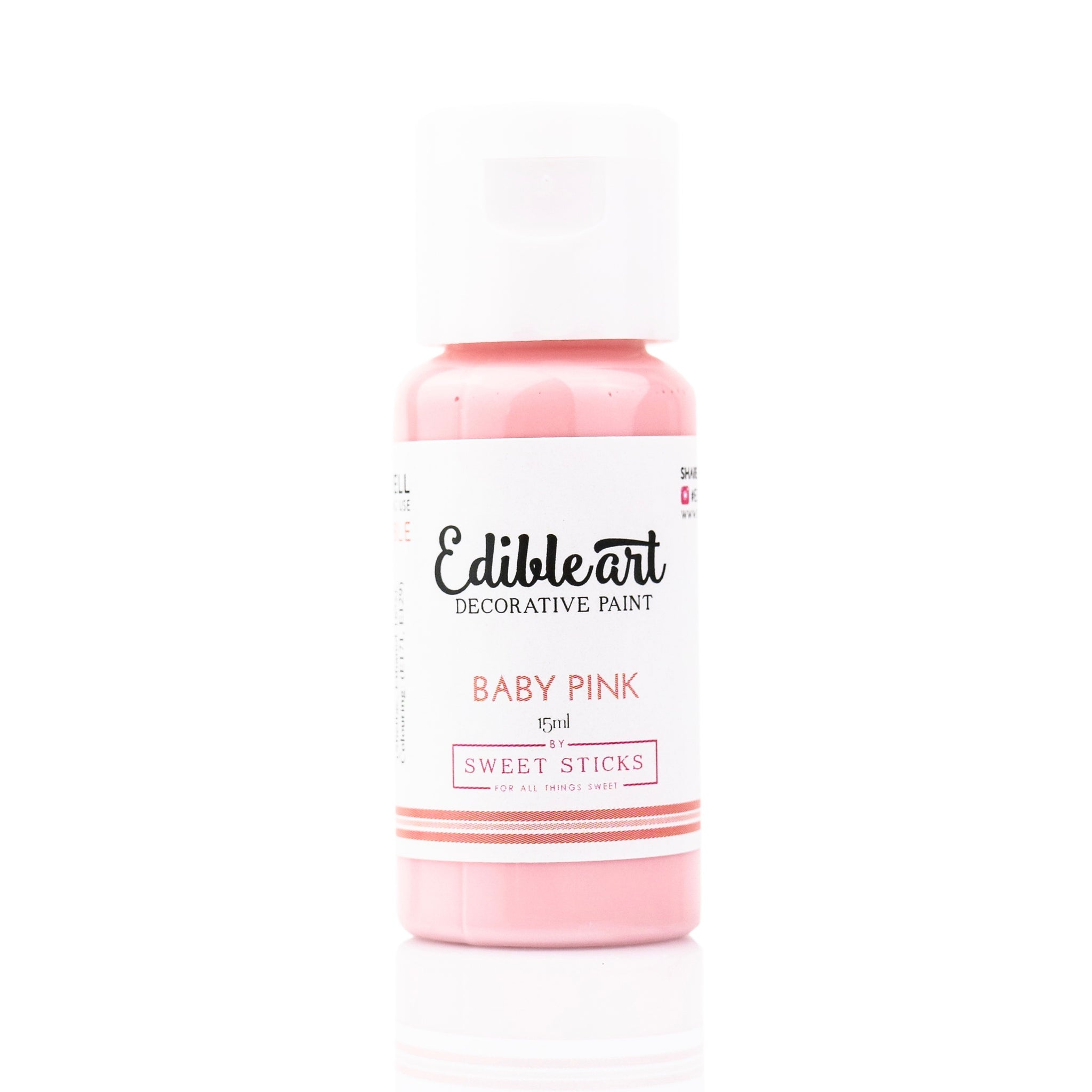 Edible Art Paint - Baby Pink 15ml - Dragonfly Cake Supply, Alberta, Canada