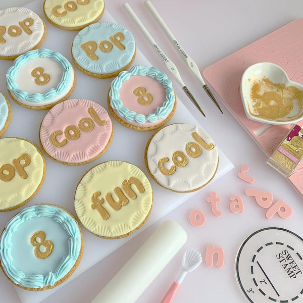 SWEET STAMP - Bubblegum Set (Uppercase, Lowercase, Numbers & Symbols)