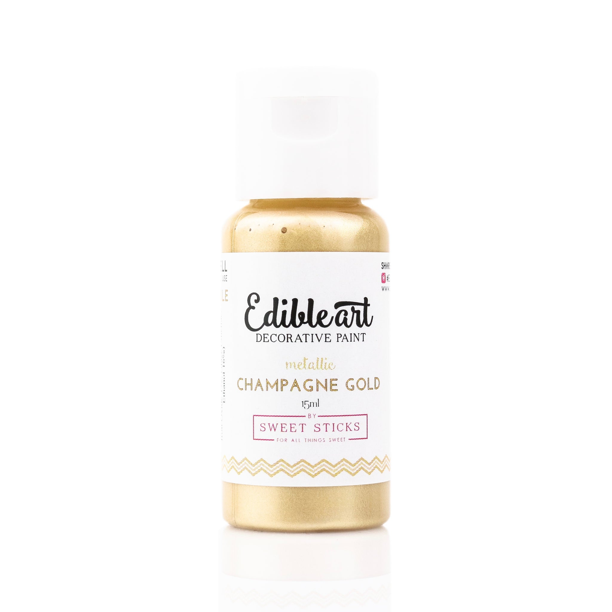 Edible Art Paint - Metallic Champagne Gold 15ml - Dragonfly Cake Supply, Alberta, Canada