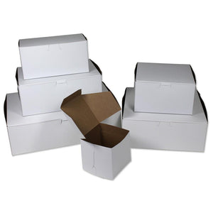 White Cupcake Boxes - One Piece, No Window (6 Cupcakes)