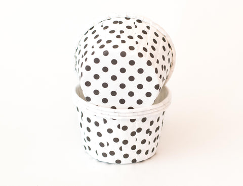 Baking Cups - Black & White Polka Dot - Pkg of 24