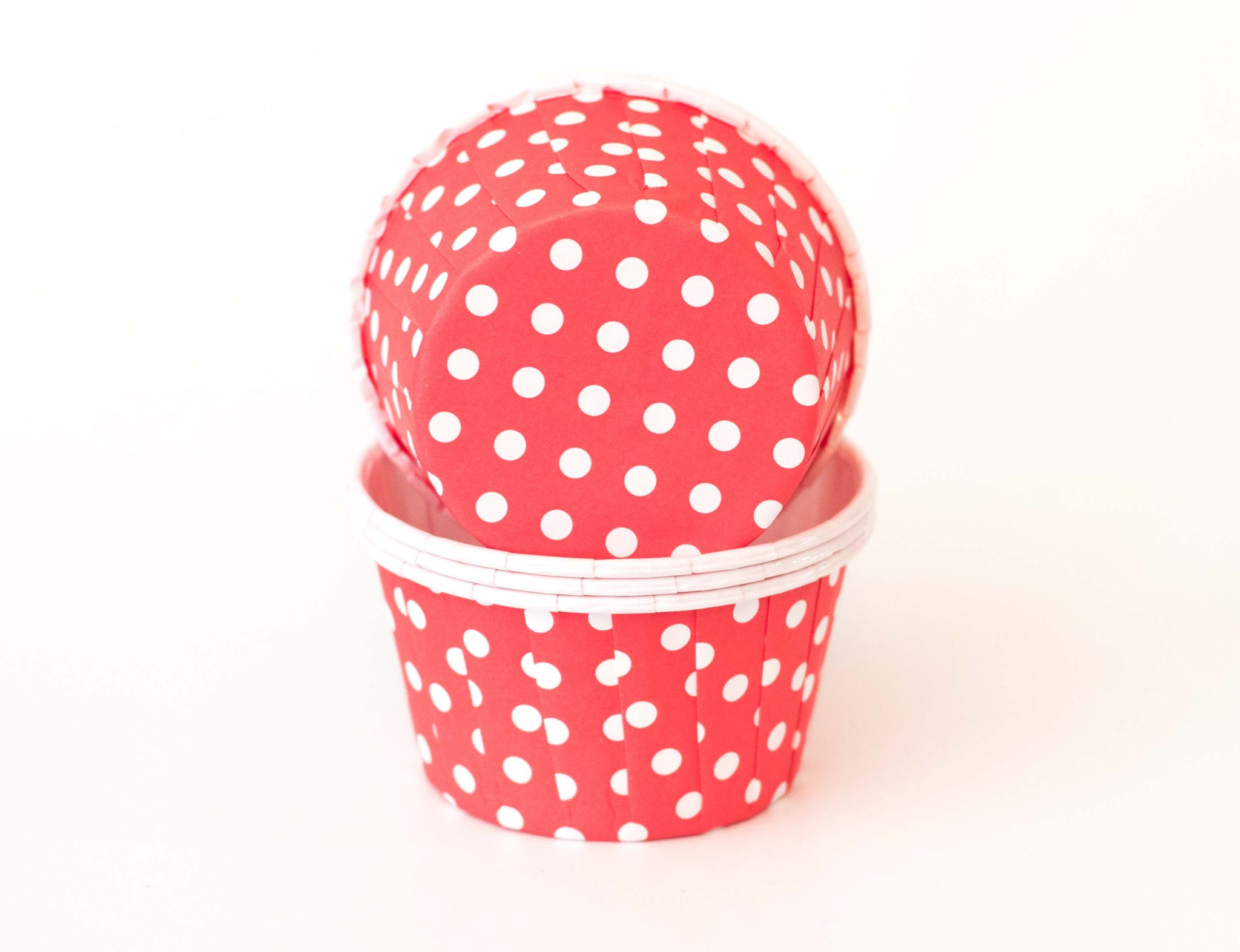 Baking Cups - Red Polka Dot - Pkg of 24