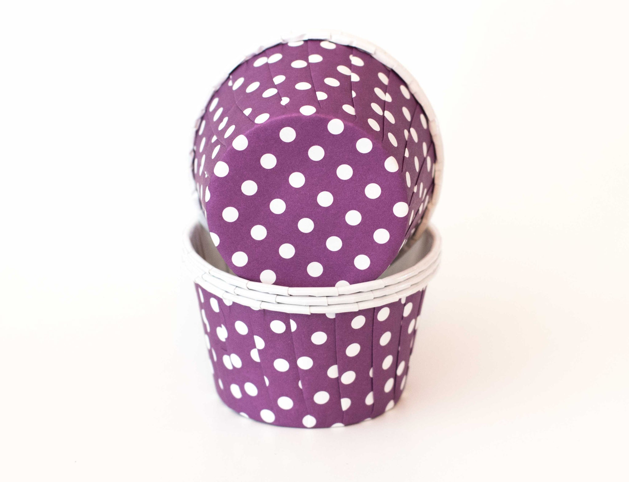 Baking Cups - Purple Polka Dot - Pkg of 24