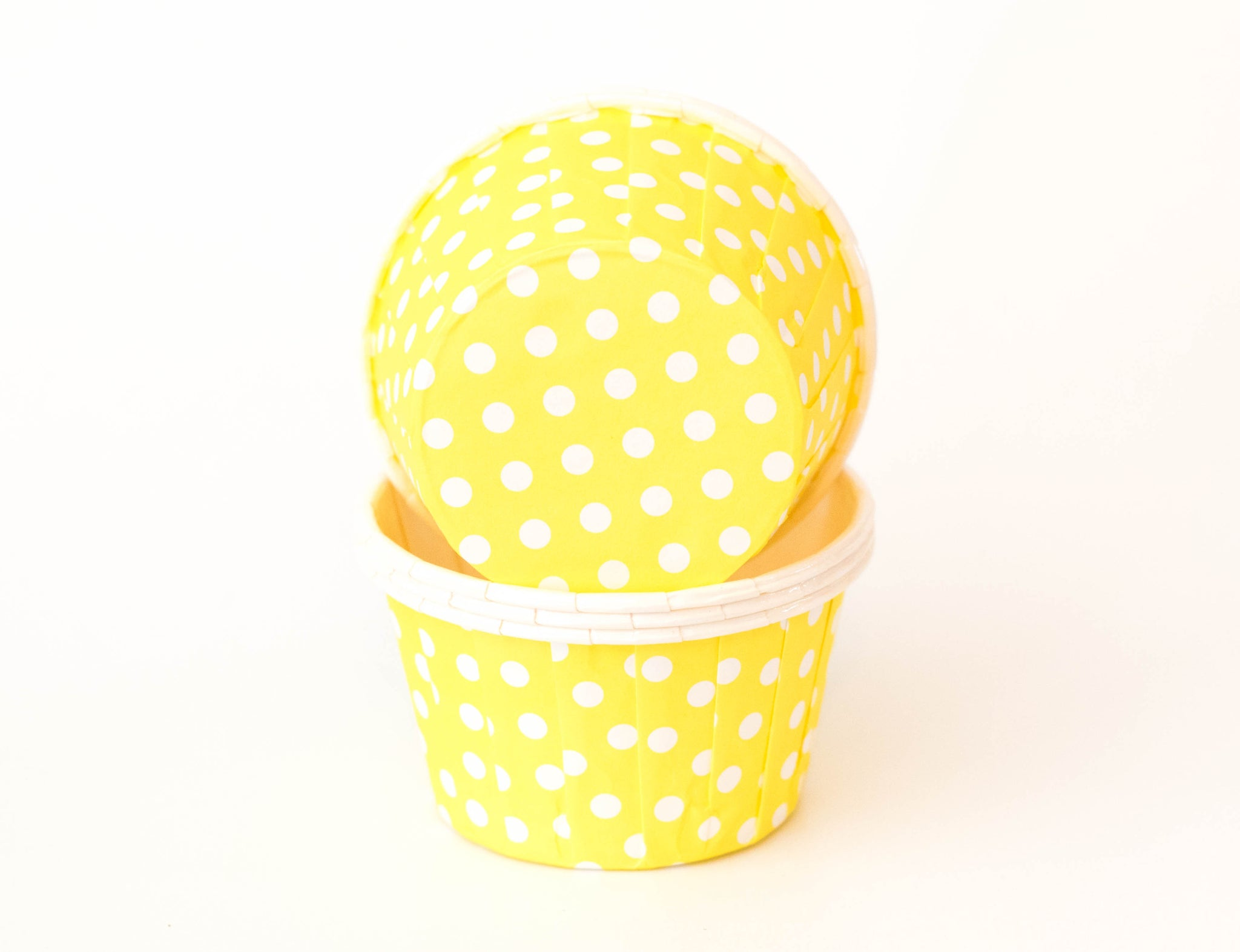 Baking Cups - Yellow Polka Dot - Pkg of 24