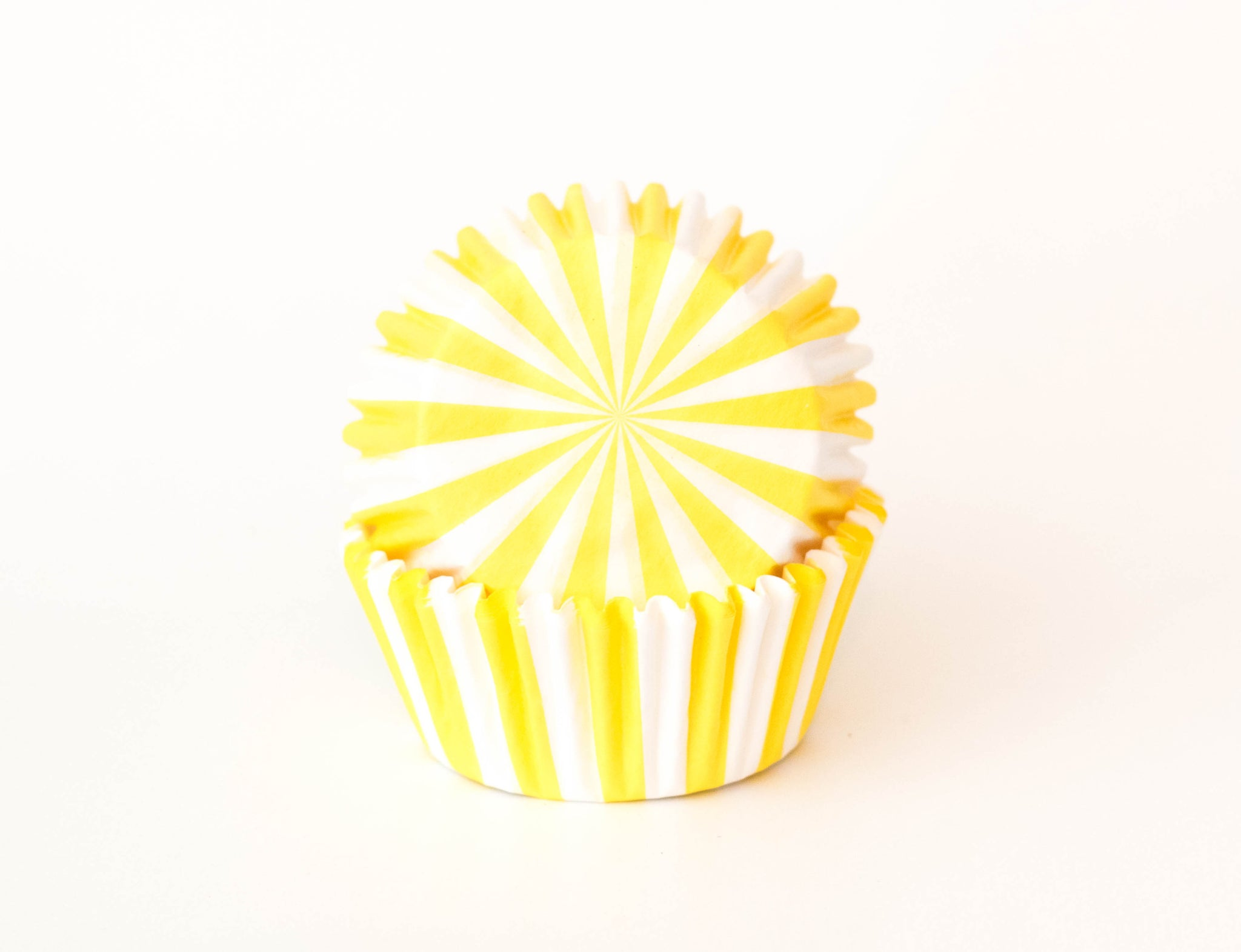 Cupcake Liners - Yellow Stripe - Pkg of 100