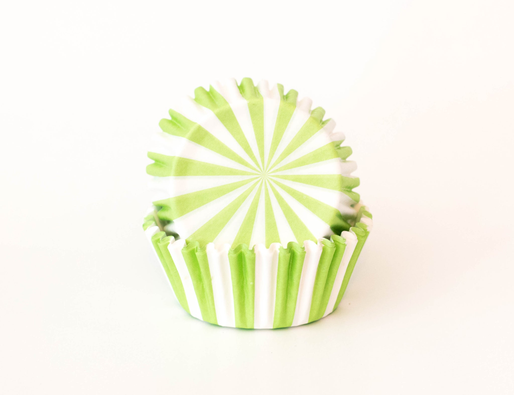 Cupcake Liners - Green Stripe - Pkg of 100 - Dragonfly Cake Supply, Alberta, Canada
