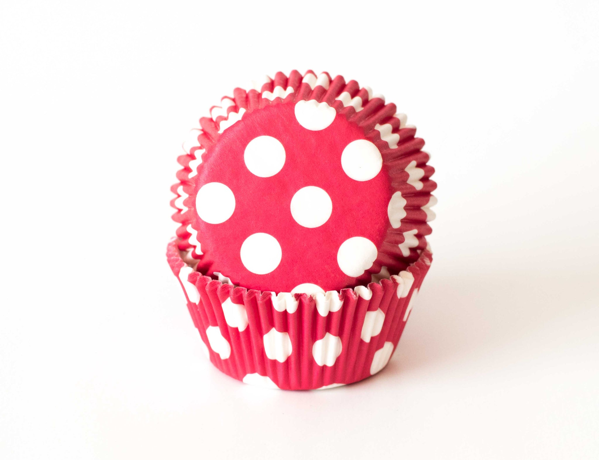 Cupcake Liners - Red Polka Dot - Pkg of 50