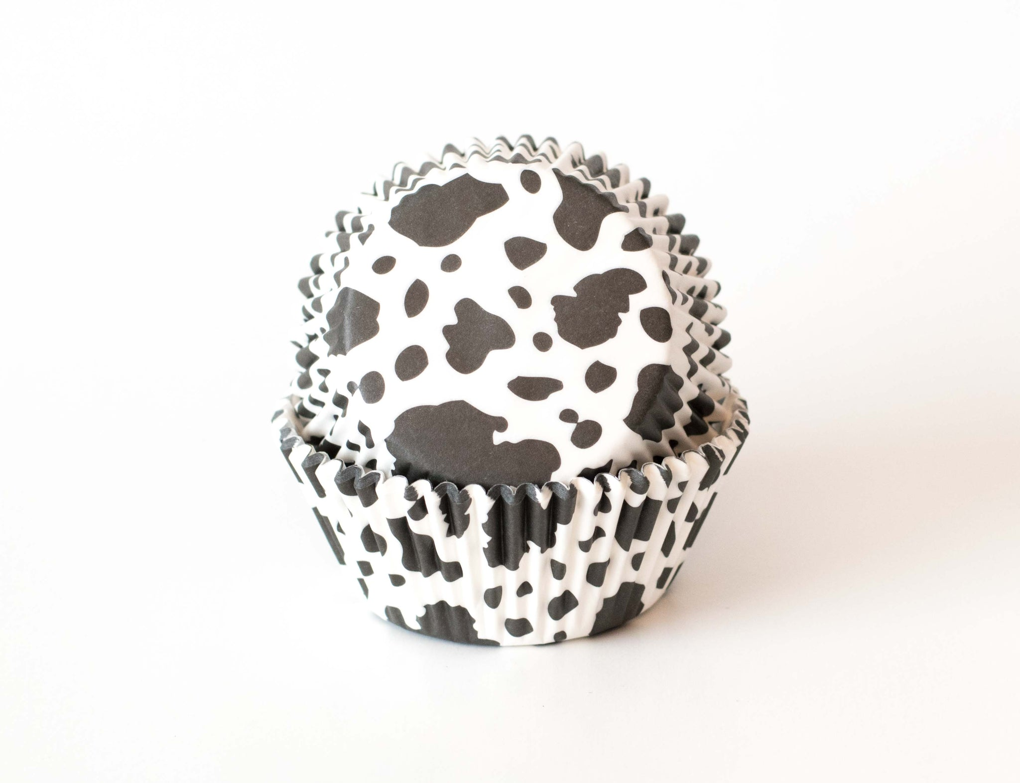 Cupcake Liners - Black & White Cow - Pkg of 50