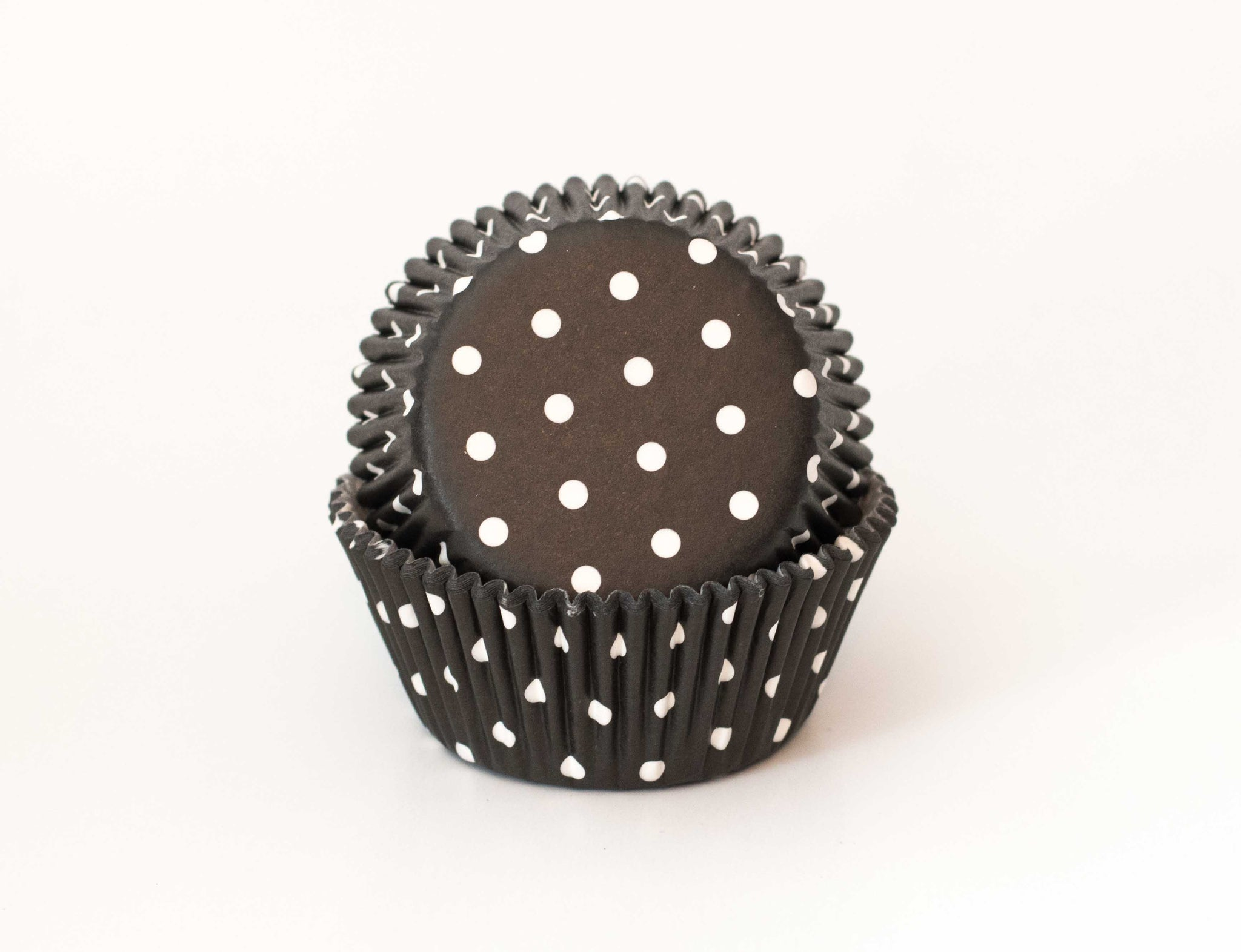 Cupcake Liners - Black Polka Dot - Pkg of 25