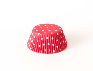 Cupcake Liners - Red Polka Dot- Pkg of 25