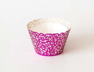 Cupcake Wrappers - Pink Foil - Pkg of 12