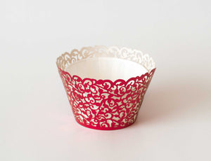Cupcake Wrappers - Red Foil - Pkg of 12