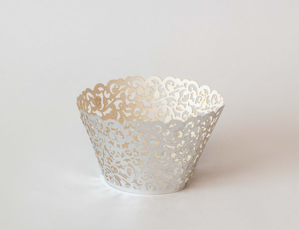 Cupcake Wrappers - Silver Foil - Pkg of 12
