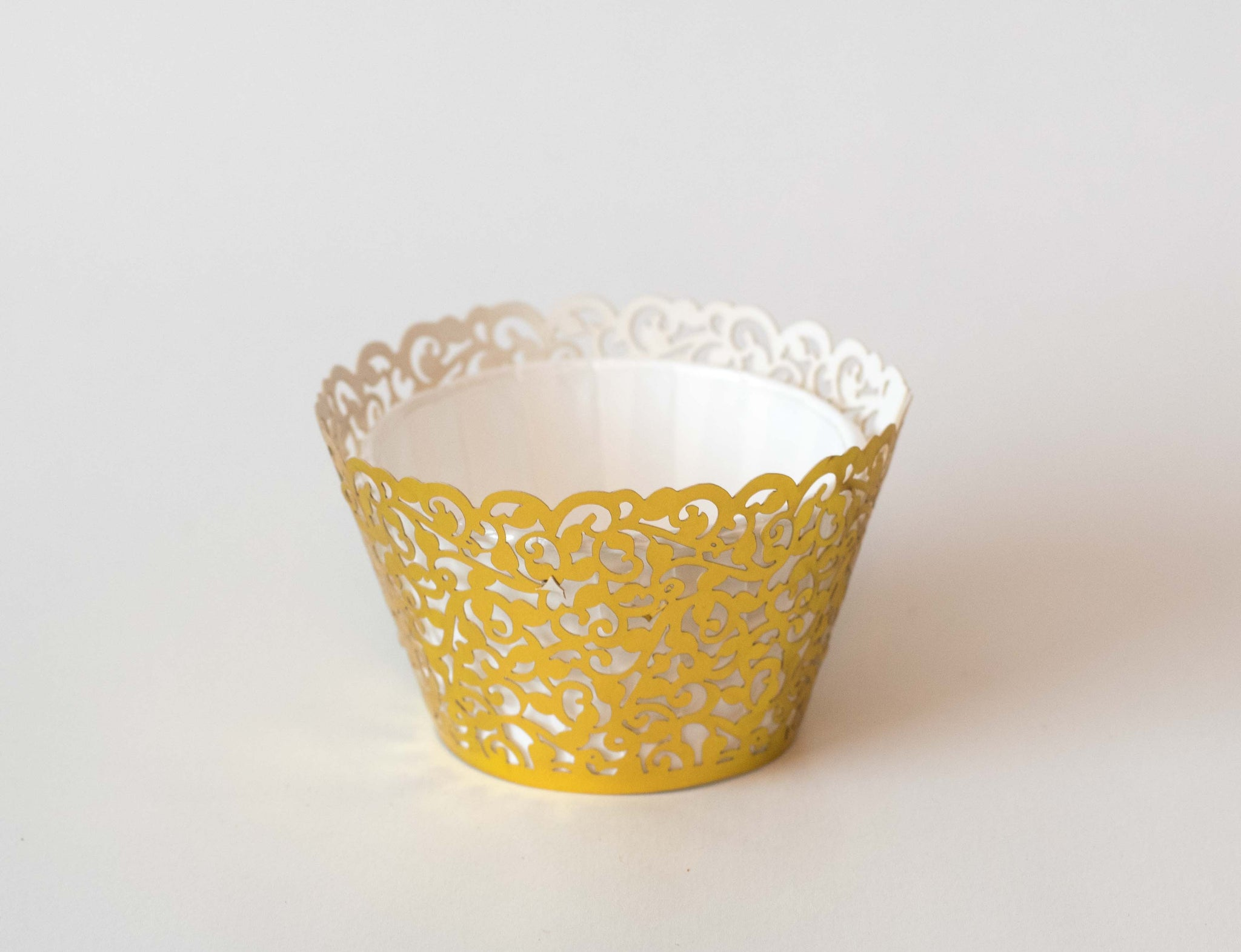 Cupcake Wrappers - Gold Foil - Pkg of 12