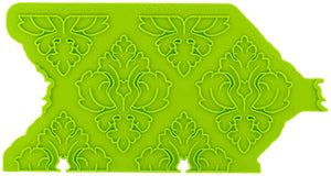 Damask Pattern Silicone Onlay® - Dragonfly Cake Supply, Alberta, Canada