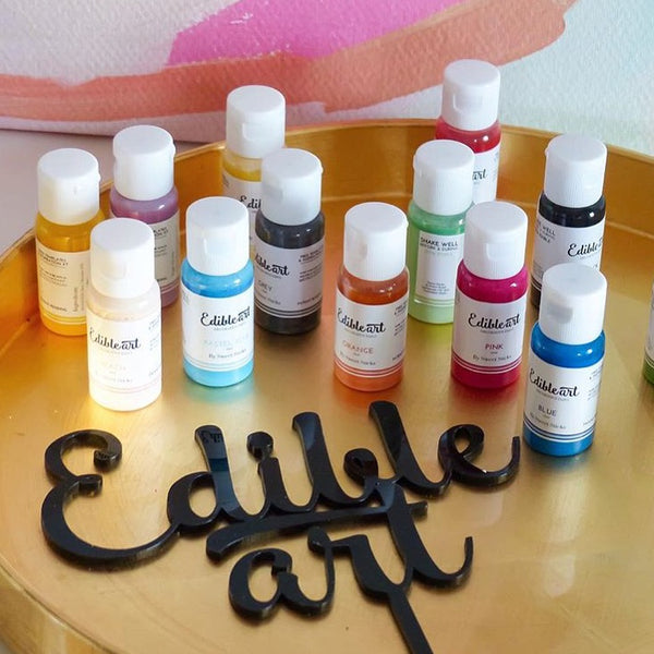 Edible Art Paint - Pink 15ml - Dragonfly Cake Supply, Alberta, Canada