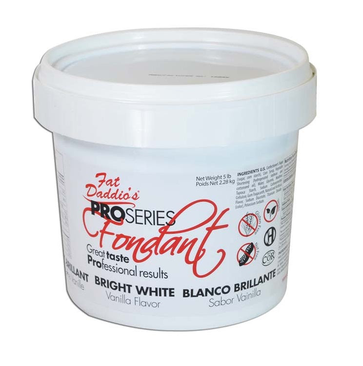 Fondant - Fat Daddio's Bright White - 5lb - Dragonfly Cake Supply, Alberta, Canada