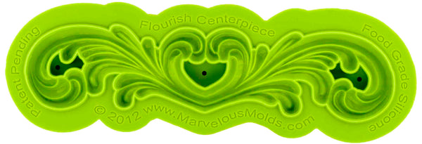Flourish Centerpiece Mold - Dragonfly Cake Supply, Alberta, Canada