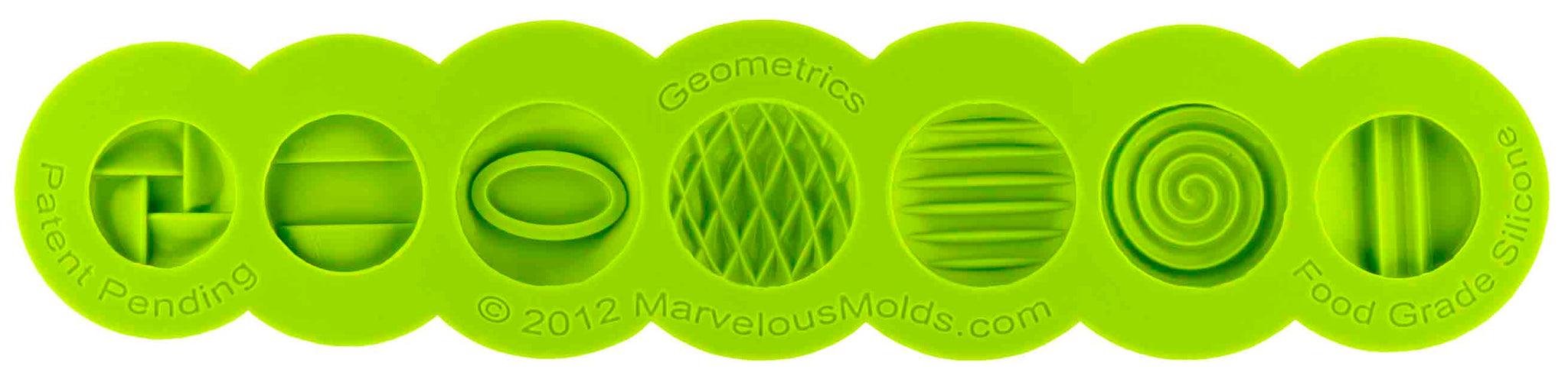 Geometrics Button Mold - Dragonfly Cake Supply, Alberta, Canada