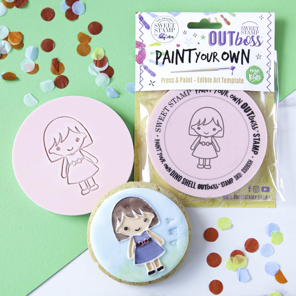 SWEET STAMP - OUTboss Paint Your Own - Girl