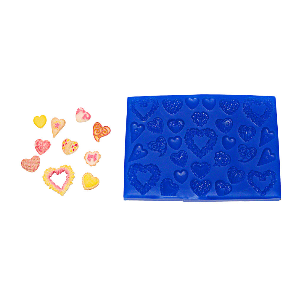 Heart Set Silicone Mould
