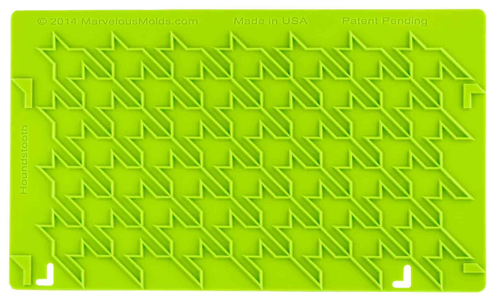 Houndstooth Silicone Onlay ® - Dragonfly Cake Supply, Alberta, Canada