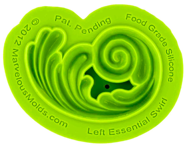 Left Essential Swirl Mold - Dragonfly Cake Supply, Alberta, Canada
