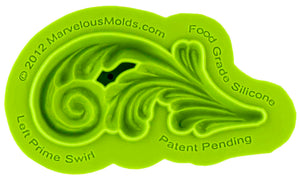 Left Prime Swirl Mold - Dragonfly Cake Supply, Alberta, Canada