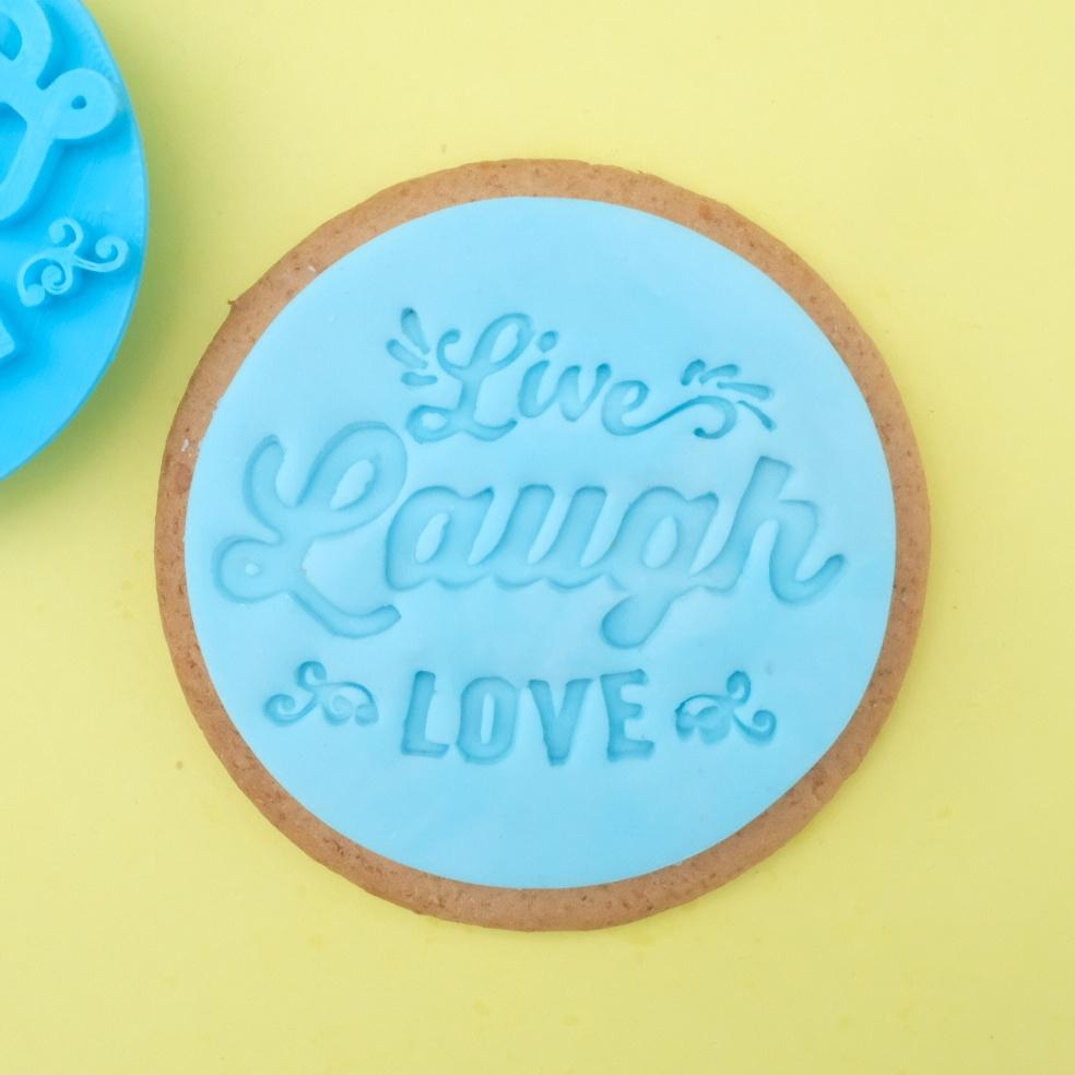 SWEET STAMP - 'Live Laugh Love' Cookie/Cupcake Embosser