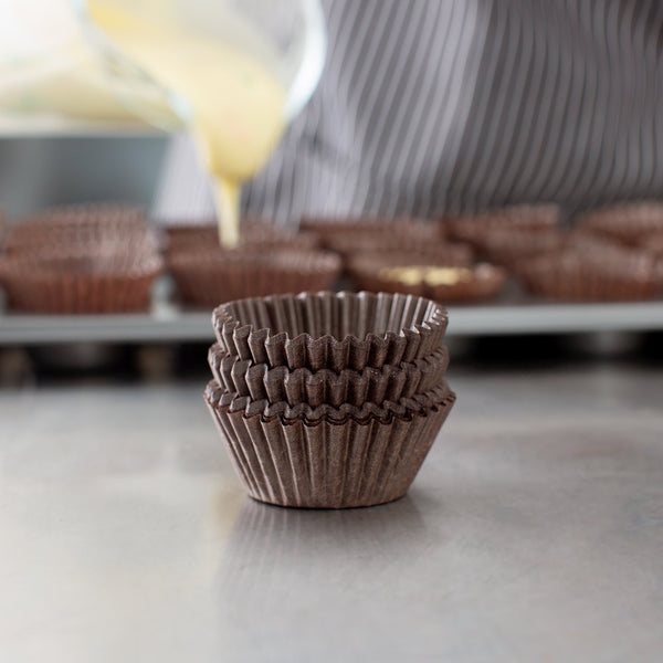 Cupcake Liners - Brown MINI - Pkg of 100 - Dragonfly Cake Supply, Alberta, Canada