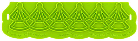 Overlapping Drop String Silicone Onlay® - Dragonfly Cake Supply, Alberta, Canada