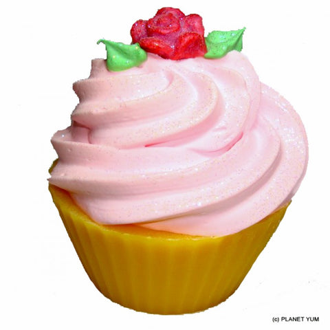 Texas Rose Cupcake Soap