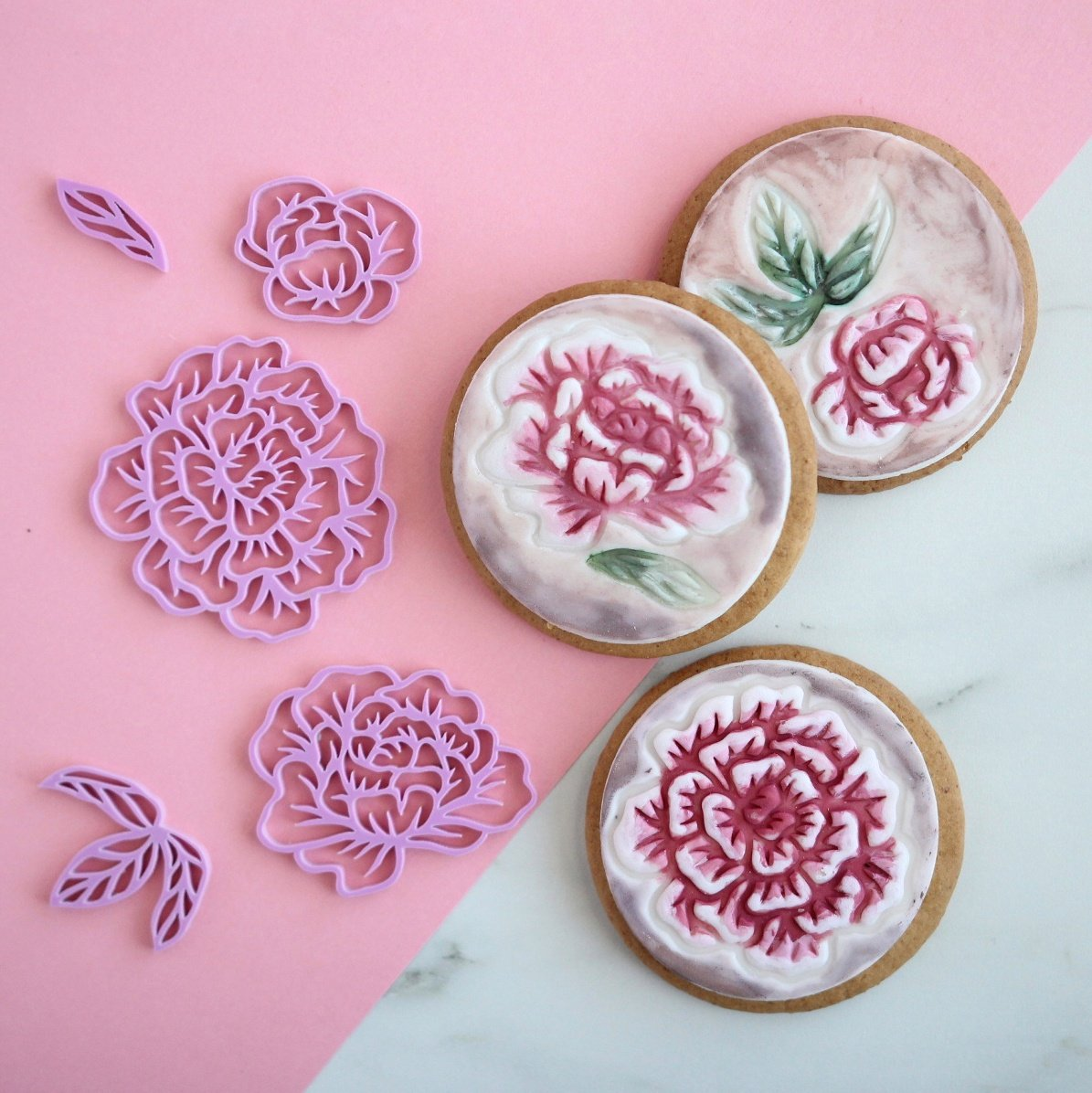 SWEET STAMP ELEMENTS - Pretty Peonies