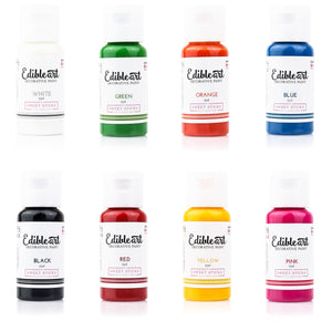 Edible Art Paint - Primary 8 Pack 15ml - Dragonfly Cake Supply, Alberta, Canada