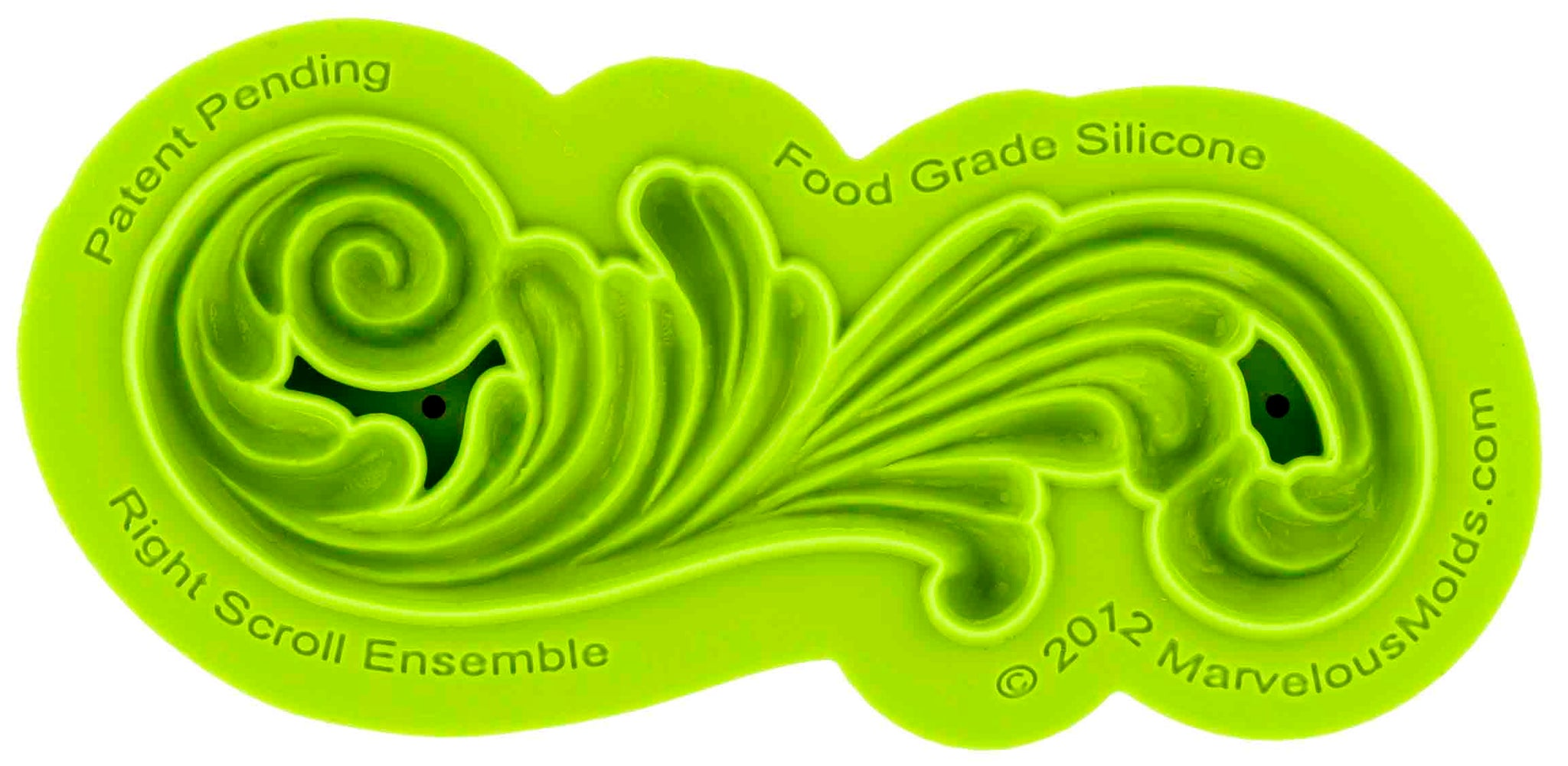 Right Scroll Ensemble Mold - Dragonfly Cake Supply, Alberta, Canada