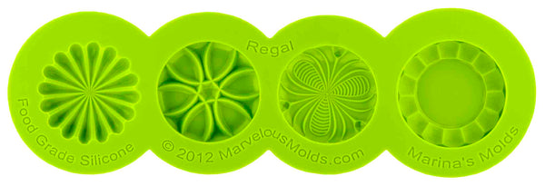 Regal Button Mold - Dragonfly Cake Supply, Alberta, Canada