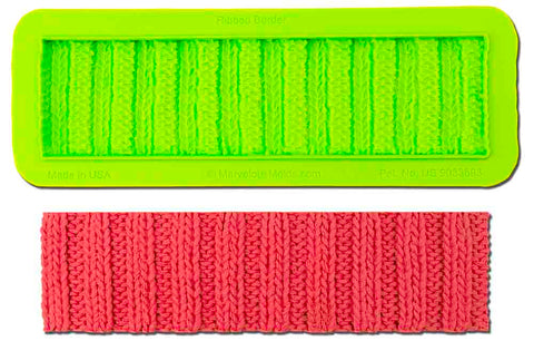 Ribbed Knit Border Mold