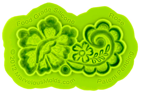 Rose Lace Mold - Dragonfly Cake Supply, Alberta, Canada