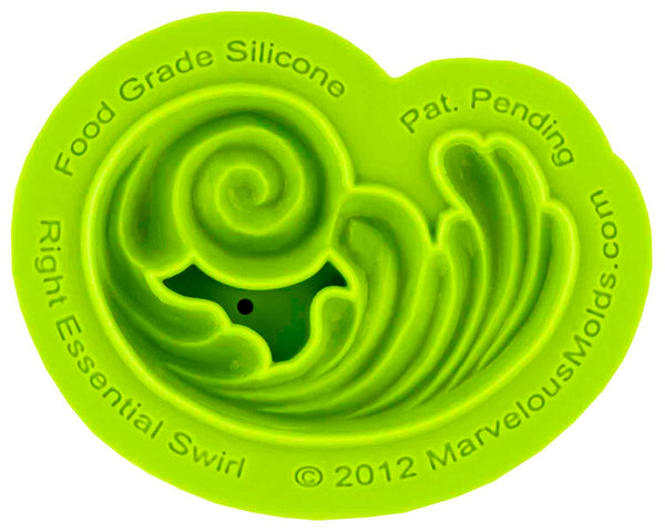 Right Essential Swirl Mold - Dragonfly Cake Supply, Alberta, Canada