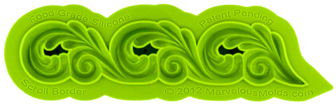 Scroll Border Mold - Dragonfly Cake Supply, Alberta, Canada