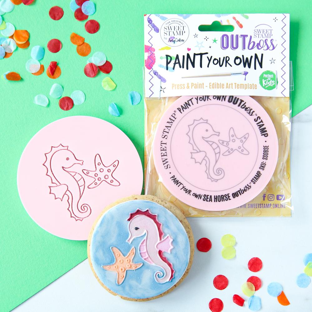 SWEET STAMP - OUTboss Paint Your Own - Sea Horse