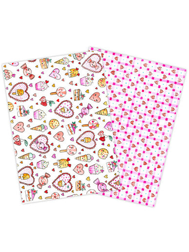 Kawaii Hearts Wafer Paper - 2 sheets