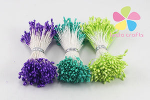 Stamen - 576 Pieces - Purple, Teal, Green