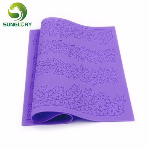 Silicone Lace Mat - Leaf Pattern