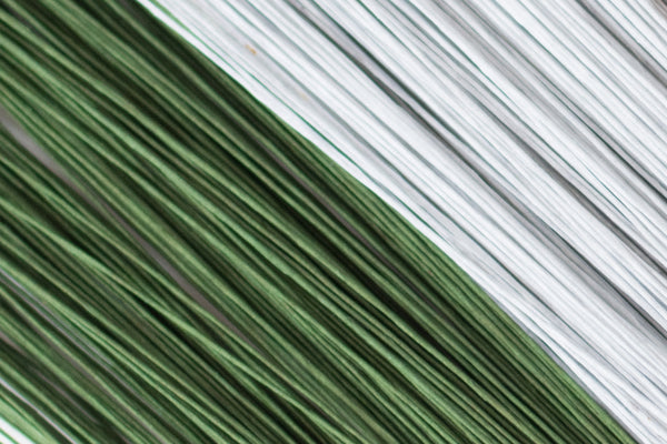 Floral Wire - Green and White