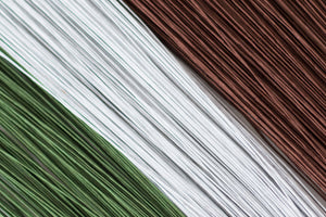 Floral Wire - Green, White or Brown