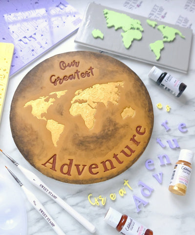 SWEET STAMP ELEMENTS - Great Adventure World Map
