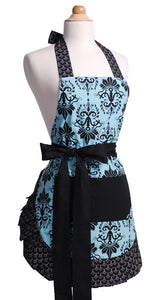 Women's Original Aqua Damask Apron