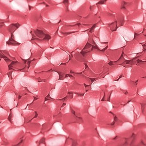 Metallic Edible Shapes - Hearts - Pink