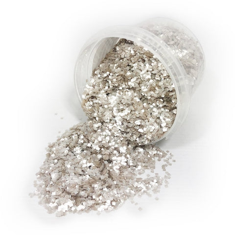 Silver Edible Glitter Squares - 20g